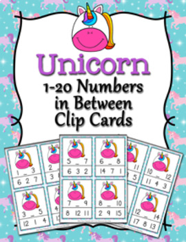 Unicorn Numbers In Between Clip Cards