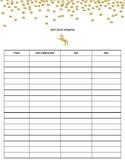Unicorn Parent Contact Sheet
