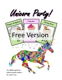 Unicorn Party Free PDF Version - Primary Grades Math Addit