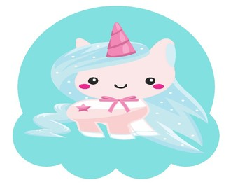 Unicorn Party Large Size Ice Cream for Online ESL (VIPKID, GOGOkid, DadaABC)