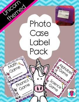 Unicorn Photo Case Labels