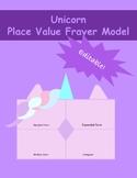Unicorn Place Value Frayer Model
