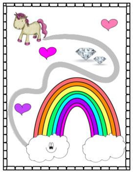 Unicorn Playdoh Mats - Fine Motor Activities