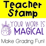 Unicorn Pre-Inked Stamp