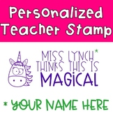 Unicorn Pre-Inked Stamp {PERSONALIZED}