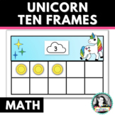 Unicorn Printable Ten Frames & Counters with Counting and