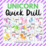 Unicorn Quick Drill {for any skill drill}