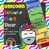 Unicorn Rainbow Behavior Chart with Home Reporting Sheets