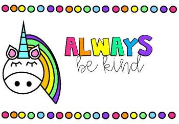 Unicorn & Rainbow Posters