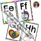 Unicorn Rainbow Print Block Letter Classroom Alphabet Decorative