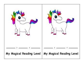 Unicorn Reading Level Bookmark