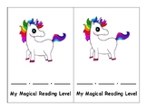 Unicorn Reading Level Bookmark
