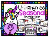 Unicorn Rhyming Seasonal Match