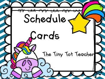 Unicorn Schedule Cards