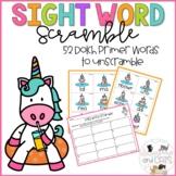 *EDITABLE* Sight Word Game: Unicorn Scrambled Sight Words