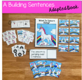 "Unicorn Sentence Builder Book:  ""What Is Unicorn Doing?"""