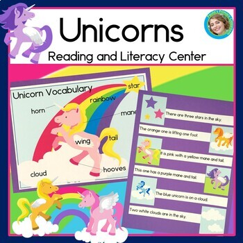 Unicorn Sentence Picture Match Reading Center