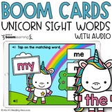 Unicorn Sight Word Boom Cards™ FREEBIE