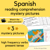 Unicorn Spanish Story reading beginner Spanish with PRINTABLE MYSTERY PICTURES