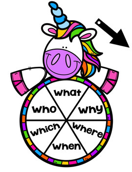 Unicorn Spin and Write Sight Words