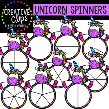 Unicorn Spinners {Creative Clips Digital Clipart}