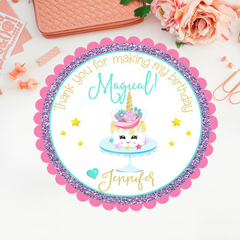 Unicorn Stickers/Tags/Cupcake Toppers/Labels