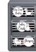 Unicorn Stripes Teacher Toolbox Labels