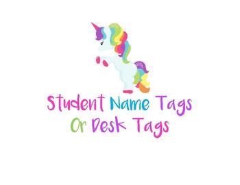 Unicorn Student Desk Label