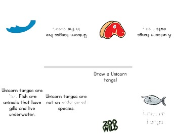Unicorn Tang -- 10 Resources -- Coloring Pages, Reading & Activities