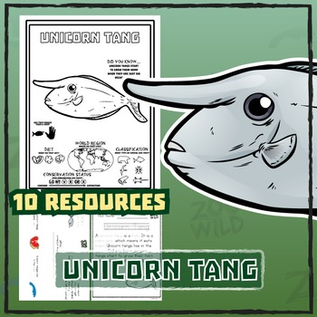 Unicorn Tang -- 10 Resources -- Coloring Pages, Reading &