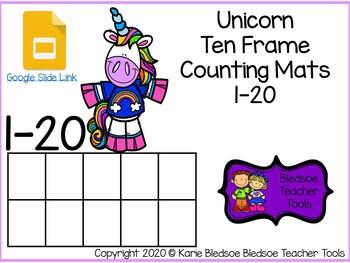 Unicorn Ten Frame Counting Mats 1-20