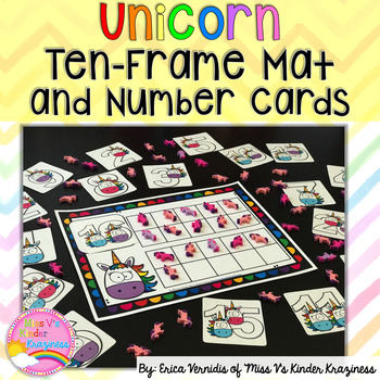 Unicorn Ten-Frame and Number Cards FREEBIE
