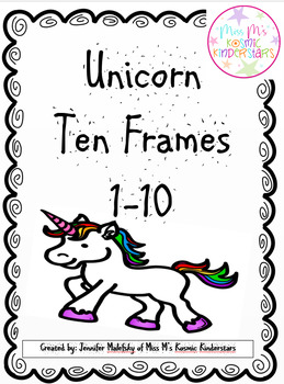 Unicorn Ten Frames 1-10 FREEBIE