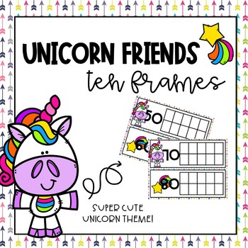 Unicorn Tens Frames for Counting Days in School by Donuts Then Teach