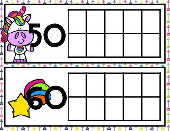 Unicorn Tens Frames for Counting Days in School