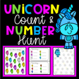 Unicorn Theme Number Recognition Worksheets & Counting Activities
