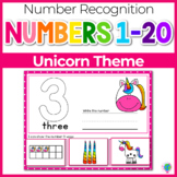1-20 Unicorn Number Recognition Mats   Ten-frames, Array, Tally Marks