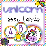 Unicorn and Rainbows Themed Classroom Decor Book Labels