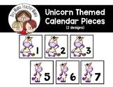 Unicorn Themed Calendar Pieces