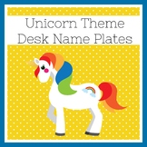 Unicorn Classroom Theme | Desk Tags