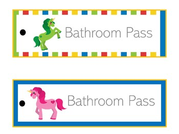 Unicorn Themed Classroom   Unicorn Classroom Decor   Hall Passes