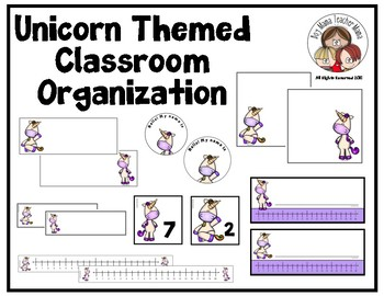 Unicorn Themed Classroom Organization