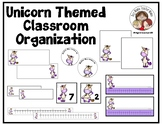 Unicorn Themed Classroom Organization