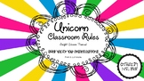 Unicorn Themed Classroom Rules
