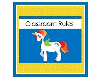 Unicorn Themed Classroom | Unicorn Classroom Decor | BUNDLED SET