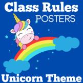 Unicorn Classroom Theme | Rules