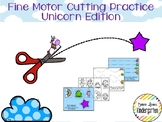 Unicorn Themed Fine-Motor Practice for Cutting / Tracing