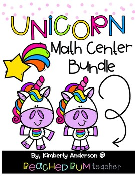 BUNDLE: Unicorn Themed Math Activities: Differentiated (15 Products)