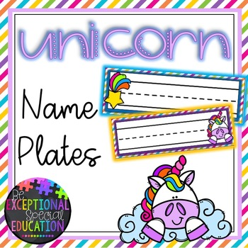 Unicorn Themed Name Plates