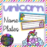 Unicorn and Rainbows Classroom Decor Name Plates